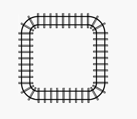 铁轨 手绘